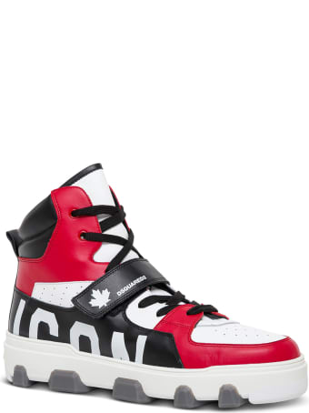 Dsquared2 Icon Color Block High Leather Sneakers