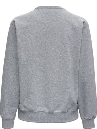 Kenzo Gray Jersey Sweatshirt With Front Tiger Print
