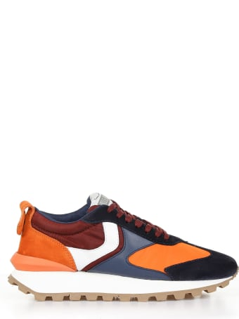 Voile Blanche Sneakers Qwark Fabric And Suede