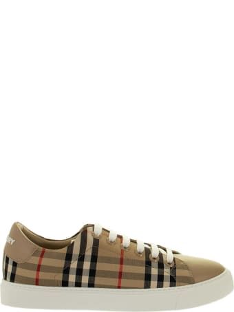 Burberry Albridge L - Trainer With Vintage Check Pattern And Leather Inserts