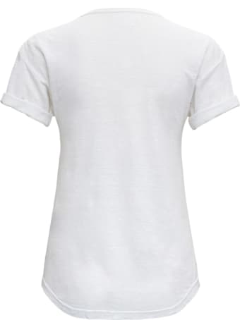 Isabel Marant Étoile White Linen T-shirt With Logo
