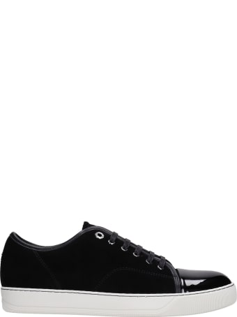 Lanvin Dbb1 Sneakers In Black Suede And Leather