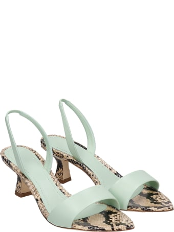 3JUIN Orchid 050 Sandals In Green Leather