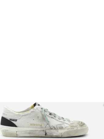 Golden Goose Superstar Sneakers In Cotton With Leather Inserts