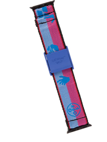 Off-White Blue And Pink Industrial Belt Band