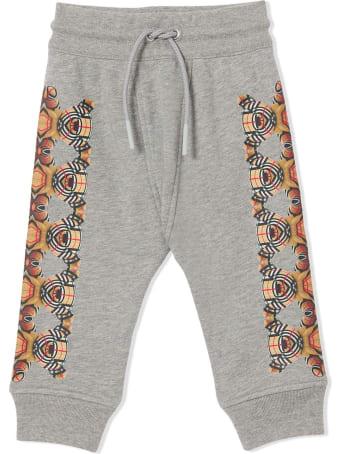 Burberry Grey Cotton Track Pants