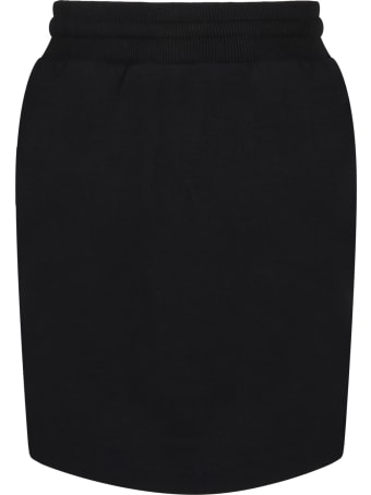 Givenchy Black Skirt For Girl With Logos