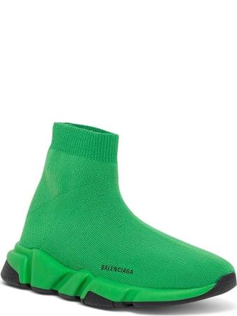 Balenciaga Speed   Green Sneakers With Logo