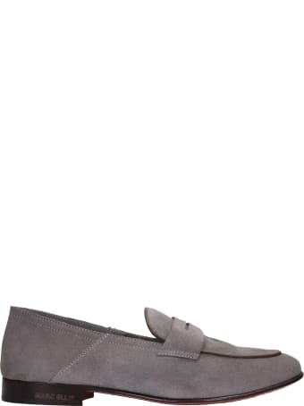 Marc Ellis Loafers In Grey Suede