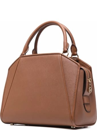 MICHAEL Michael Kors Cleo Medium Tote In Brown Leather
