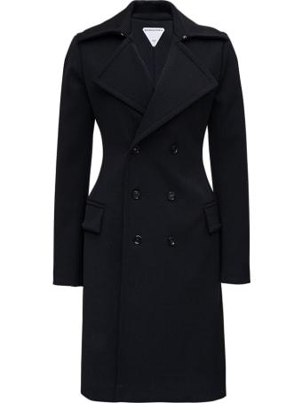 Bottega Veneta Double-breasted Black Wool Coat