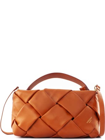 Avenue 67 Greta Clutch Bag In Orange Leather