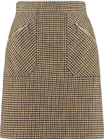 ALEXACHUNG Checked Mini-skirt