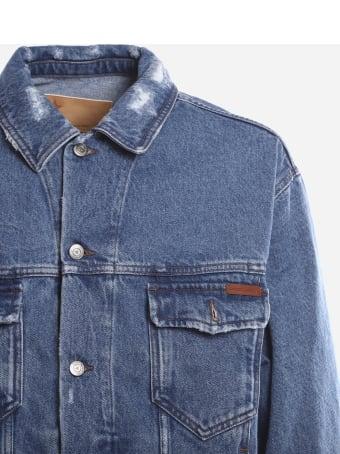Golden Goose Cotton Denim Jacket With Contrasting Print