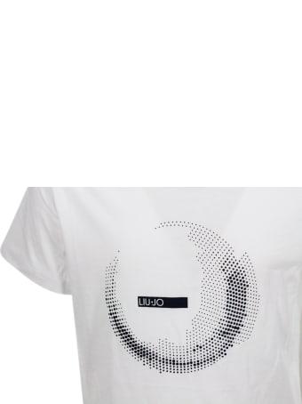 Liu-Jo Short Sleeve Crew Neck T-shirt With Logo Print