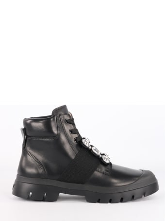 Roger Vivier Walky Viv 'lace Up Ankle Boots
