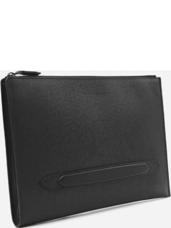 Salvatore Ferragamo Document Holder In Hammered Leather