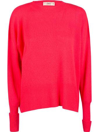Maison Flaneur Side Slit Plain Knit Sweater