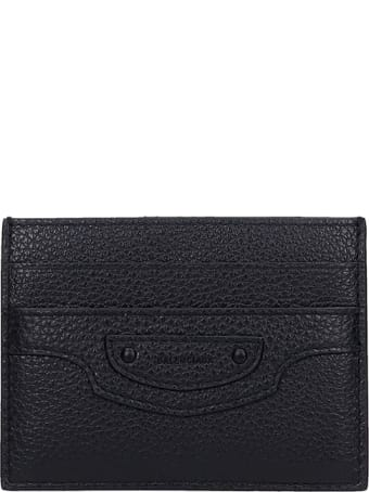 Balenciaga Wallet In Black Leather
