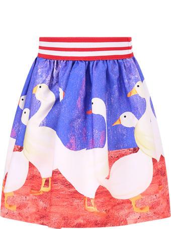 Stella Jean Stella Jean Kids Skirt With Geese