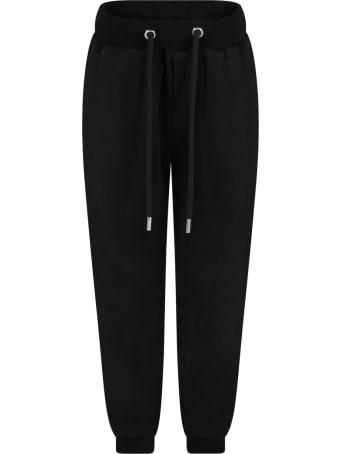 Les Hommes Black Sweatpant For Boy