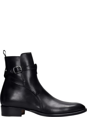 Marc Ellis Ankle Boots In Black Leather