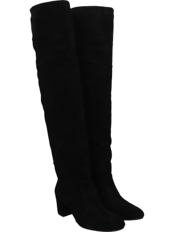 Chie Mihara Nu-nation 39 High Heels Boots In Black Suede