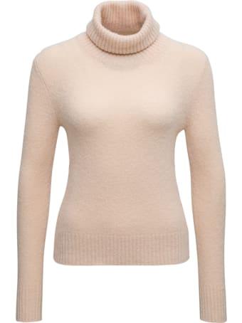 Jucca High Neck  Beige Wool Blend Sweater