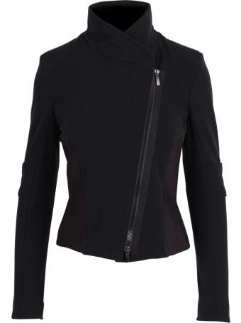 High 'oblique' Polyamide Jacket