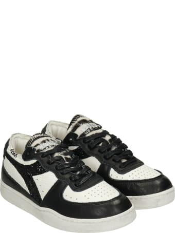 Diadora Mi Basket Sneakers In Black Leather