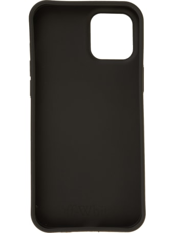 Off-White Black Iphone 12/12 Pro Case With Logo And Scribble