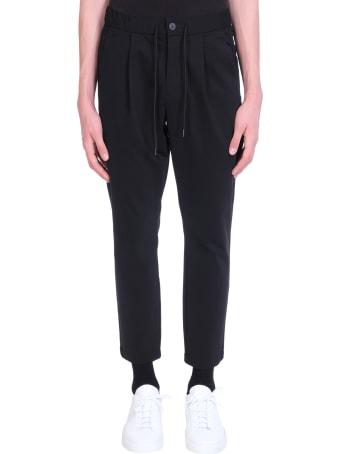 Attachment Pants In Black Cotton