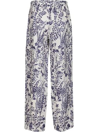Les Copains Multicolor Linen Trousers