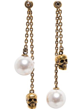 Alexander McQueen Peraly Skull Earring