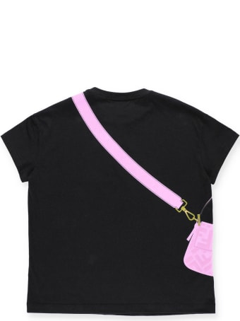 Fendi T-shirt With Embossed Loged Print