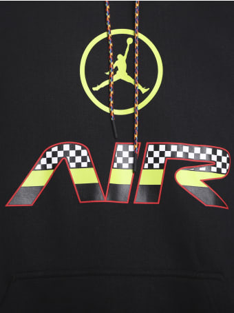 Jordan Cotton Blend Sweatshirt With Contrasting Logo Print