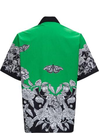 Valentino Dark Blooming Cotton Poplin Shirt