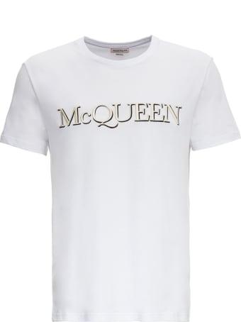 Alexander McQueen Cotton T-shirt With Logo
