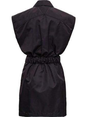 Bottega Veneta Black Technical Stretch Nylon Dress