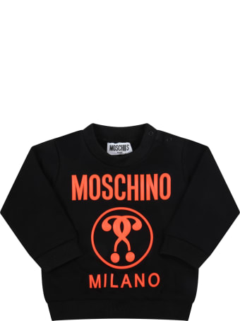Moschino Black Tracksuit For Baby Kids With Logo