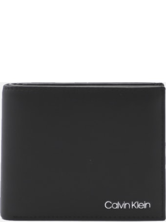 Calvin Klein Leather Wallet With Embossed Logo