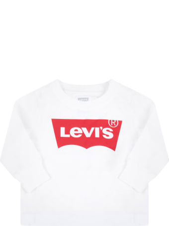 Levi's White T-shirt For Baby Kids With Logo