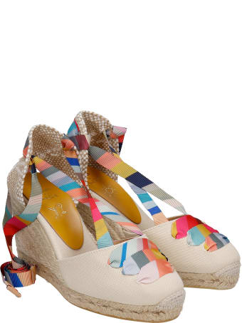 Castañer by Paul Smith Coralia Ps8-001 Wedges In Beige Canvas