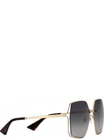 Gucci Gucci Gg0817s Gold Sunglasses