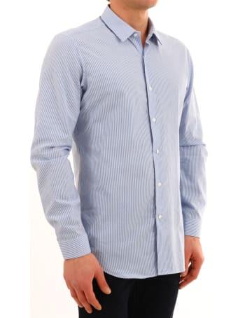 Vangher Light Blue Striped Shirt