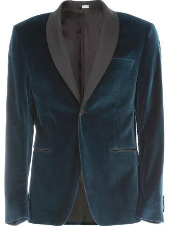 Emanuel Ungaro Velvet Smoking Jacket W/scialle Neck