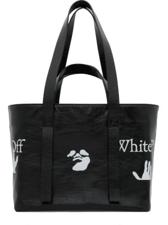 Off-White Stressed Leather Shoulder Bag