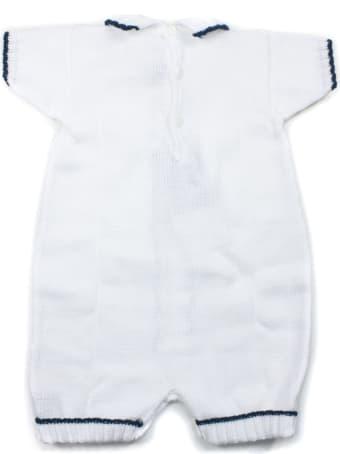 Little Bear White Cotton-blend Romper