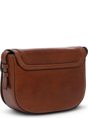 The Bridge Lavinia  Brown Leather Crossbody Bag