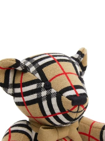 Burberry Vintage Check Teddy Bear In Merino Wool